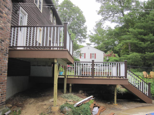 Rebuilt an Old Deck in Webster, MA